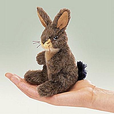 Folkmanis Finger Puppet Jack Rabbit (Image1)