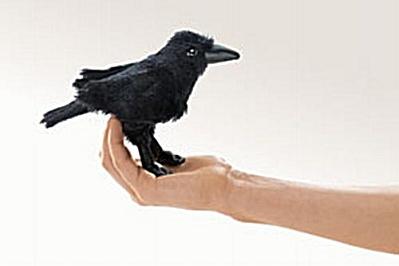 Folkmanis Finger Puppet Raven (Image1)