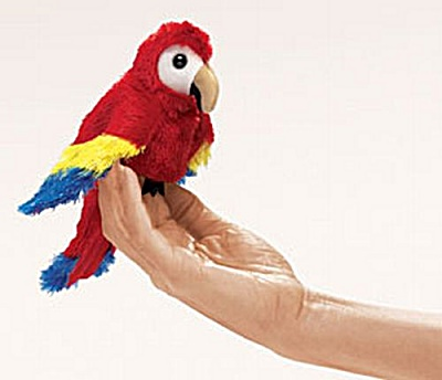Folkmanis Finger Puppet Scarlet Macaw (Image1)