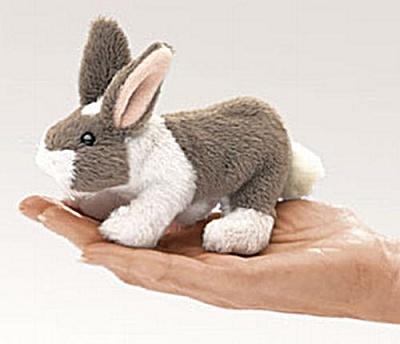 Folkmanis Finger Puppet Bunny Rabbit (Image1)