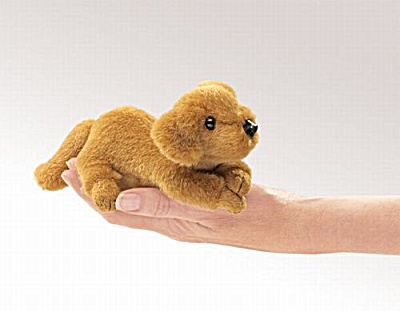Folkmanis Finger Puppet Golden Retriever
