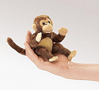 Folkmanis Finger Puppet Monkey (Image1)