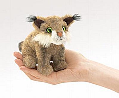 Folkmanis Finger Puppet Bobcat (Image1)
