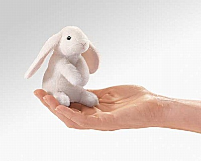 Folkmanis Finger Puppet Lop Eared Rabbit