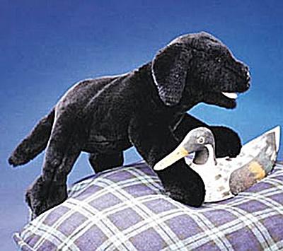 Folkmanis Hand Puppet Black Labrador Puppy (Image1)
