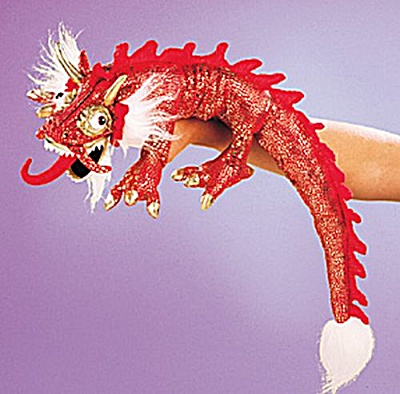 Folkmanis Hand Puppet Red Dragon