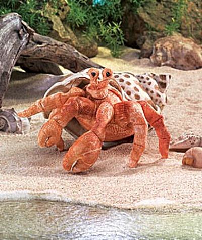 Folkmanis Hand Puppet Hermit Crab (Image1)