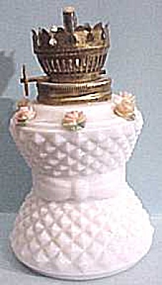 Small Milk Glass Oil Lamp