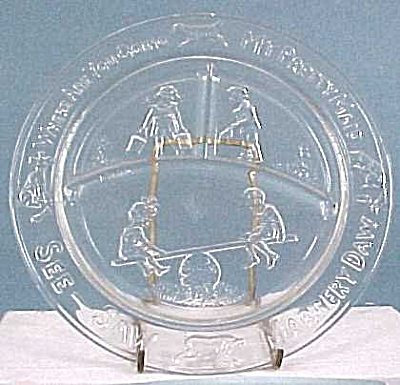 Vintage Glass Child's Plate (Image1)