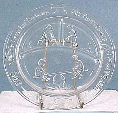 Vintage Glass Child's Plate (Image1)
