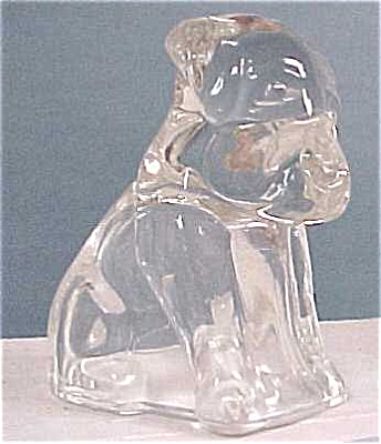Clear Glass Pooche Candy Holder