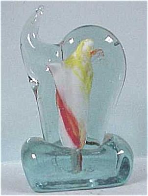 Odd Stylized Glass Elephant Paperweight (Image1)