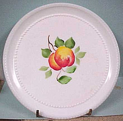Milk Glass Plates - Painted Fruit (Image1)
