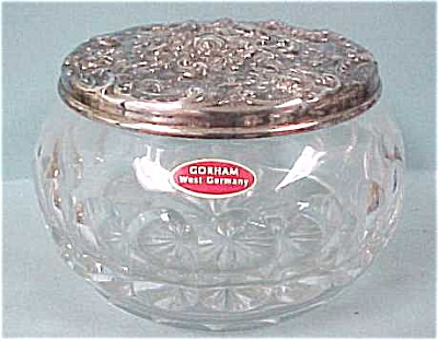 Gorham West Germany Crystal & Silver Pin Dish (Image1)