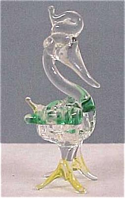 Glass Miniature Bird With Spun Glass Body (Image1)