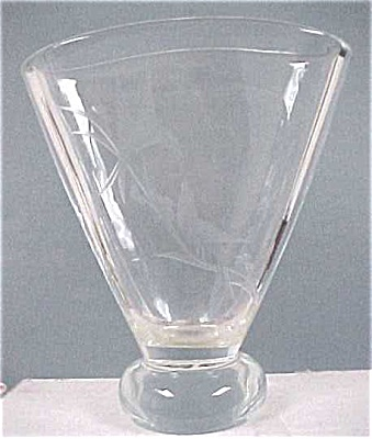 Handworked Clear Glass Vase