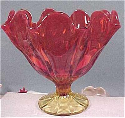Orange Art Glass Vase / Bowl (Image1)