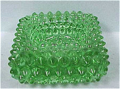 Green Hobnail Square Salt (Image1)