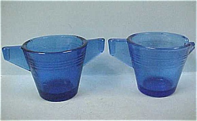 Cobalt Blue Children's Glass Cream & Sugar Set