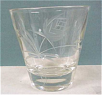 Juice Glass, Cut Design