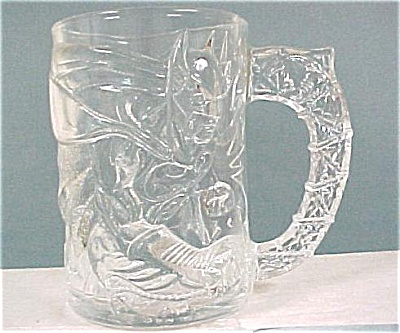 Mcdonalds Batman Forever Glass Mug, Batman