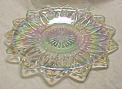 1970s Glass Plate, carnival finish (Image1)