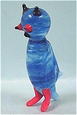 Miniature Art Glass Owl (Image1)