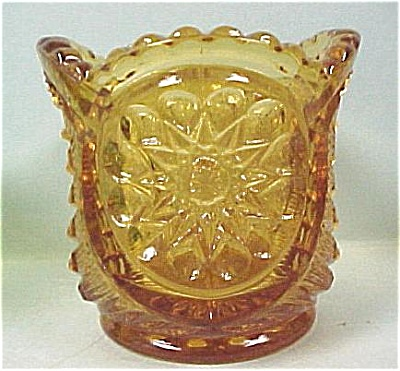 Amber Glass Toothpick Holder (Image1)