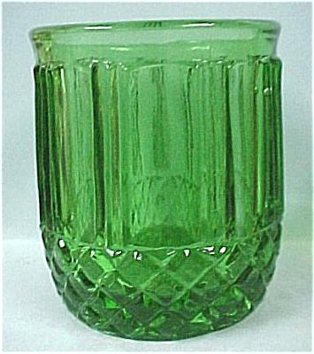 Green Glass Toothpick Holder (Image1)