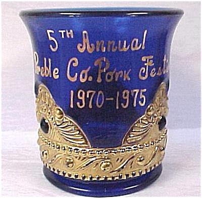 1975 Cobalt Toothpick Holder (Image1)