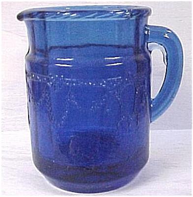 Child's Toy Blue Glass Pitcher (Image1)