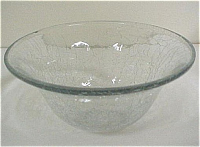 Clear Crackle Glass Dish (Image1)