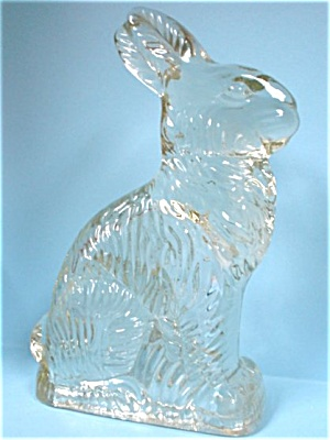 Millstein Glass Rabbit Candy Container