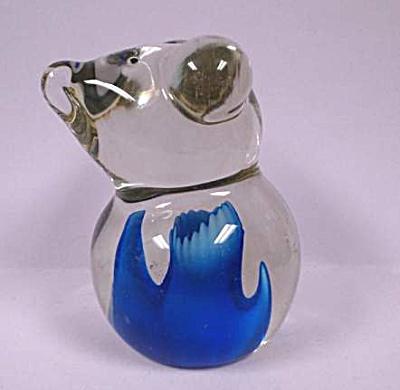 Clear Art Glass Bear (Image1)