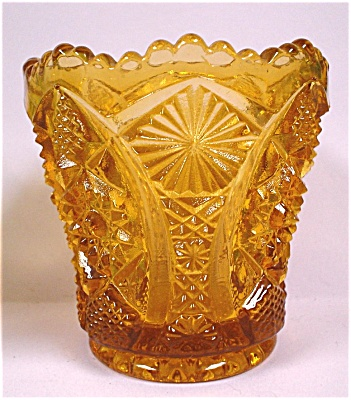 Imperial Octagon Optic Amber Glass Toothpick (Image1)