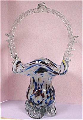 Beautiful Art Glass Basket (Image1)