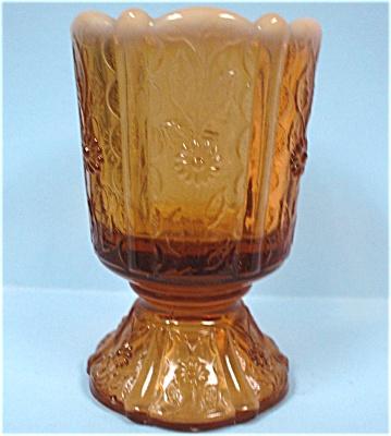 Fenton Amber Opalescent Paneled Daisy Toothpick (Image1)