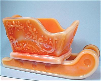 1978 Boyd Glass Orange Slag Sleigh (Image1)