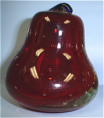 Art Glass Pear Paperweight