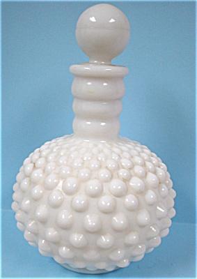 1960s Fenton Hobnail Milk Glass Cologne Bottle (Image1)