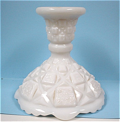 Single Westmoreland Milk Glass Candle Holder (Image1)