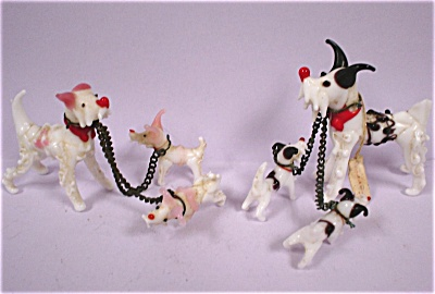 1950s Miniature Blown Glass Dogs (Image1)