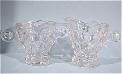 Heisey Glass Small Cream and Sugar Set (Image1)