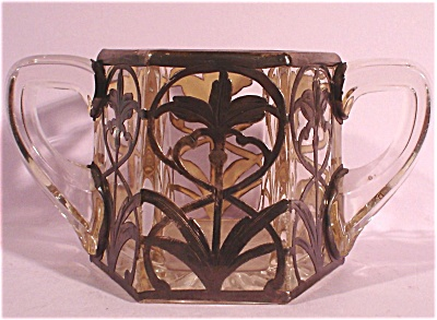 Heisey Glass Silver Overlay Sugar Bowl (Image1)