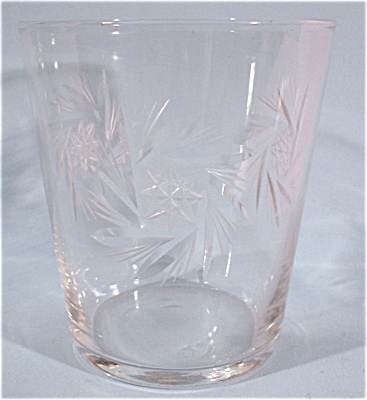 Clear Etched Glass Mini Tumbler