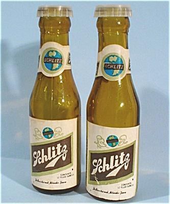 Miniature Schlitz Beer Bottle S/P Shakers (Image1)