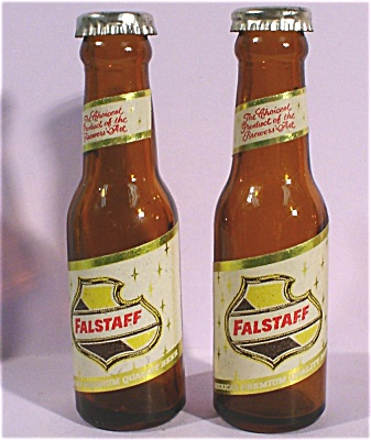 1950s Miniature Falstaff Beer Bottle S/P Set (Image1)