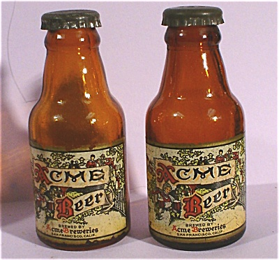1950s Miniature Acme Beer Bottle S/P Set (Image1)