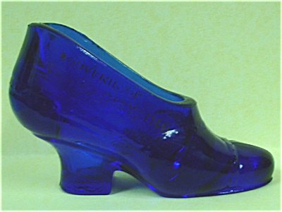 Cobalt Blue Glass Shoe