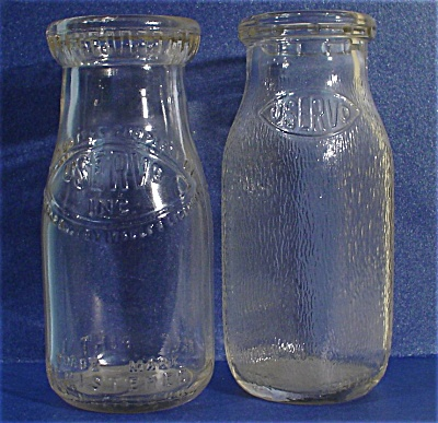 Two Half Pint Uservo Milk Bottles